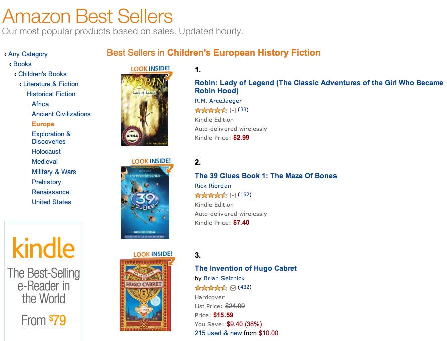 #1 Amazon Best Seller - Robin: Lady of Legend